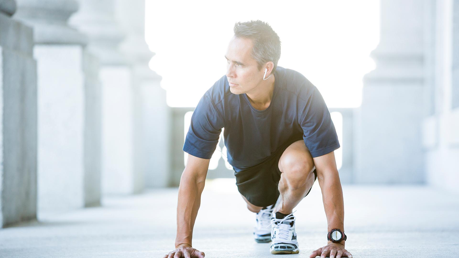 Photo d'un homme en train de faire du sport